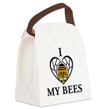 I Love My Bees Canvas Lunch Bag