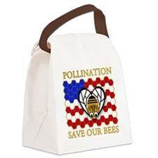 PolliNATION - Save Our Bees Canvas Lunch Bag