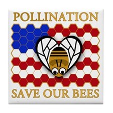 PolliNATION - Save Our Bees Tile Coaster