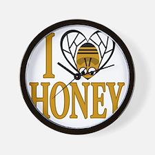 I Love Honey Wall Clock