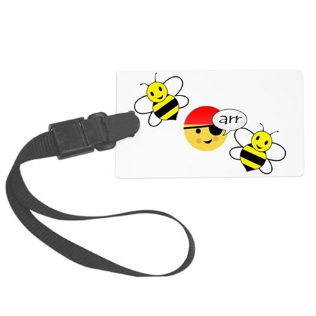 bee arr bee (hi-res) Large Luggage Tag