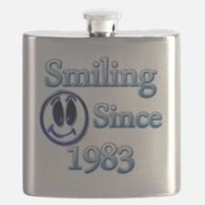 Smiling Since 1983 Flask
