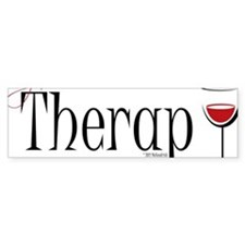 Wine-My-Therapy Bumper Sticker