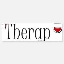 Wine-My-Therapy Sticker (Bumper)