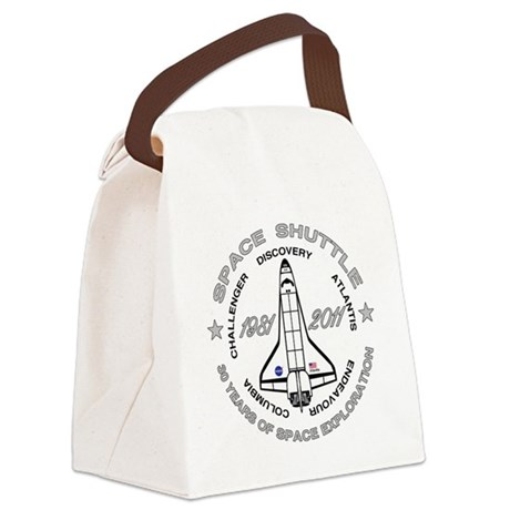 Space Shuttle_cafepress_2_bright Canvas Lunch Bag