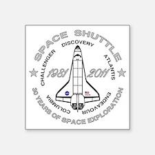 "Space Shuttle_cafepress_2_b Square Sticker 3"" x 3"""