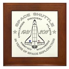 Space Shuttle_cafepress_2_bright Framed Tile