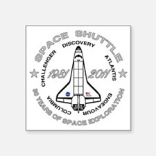 "Space Shuttle_cafepress_2_d Square Sticker 3"" x 3"""
