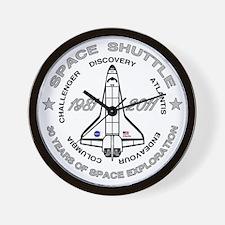 Space Shuttle_cafepress_2_dark Wall Clock