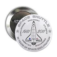"""Space Shuttle_cafepress_2_dark 2.25"""" Button"""
