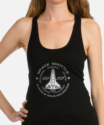Space Shuttle_cafepress_2_dark Racerback Tank Top