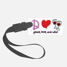 Peace-Love-Wine Luggage Tag