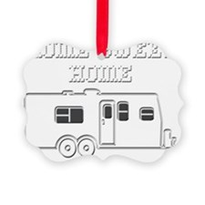 HomeSweetHomeTravelTrailerReverse Ornament