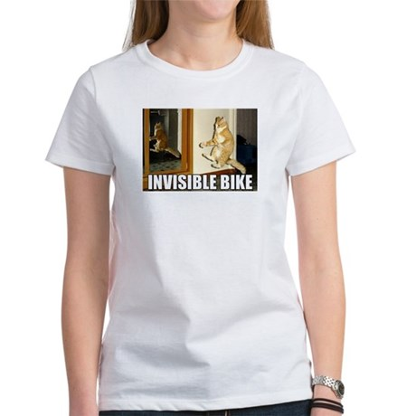 Invisible Bike Cat Women's T-Shirt