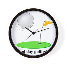 bad day golfing hi-res Wall Clock