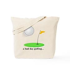 bad day golfing hi-res Tote Bag