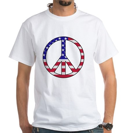 peace_large White T-Shirt