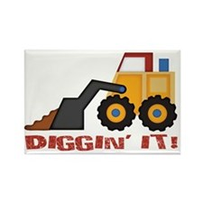DigginIt_red Rectangle Magnet