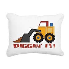 DigginIt_red Rectangular Canvas Pillow