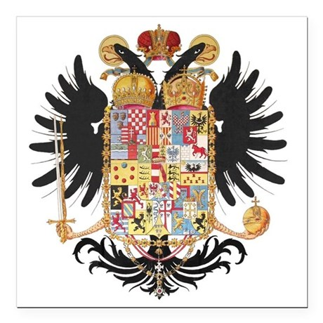 "German Coat of Arms Wapp Square Car Magnet 3"" x 3"""