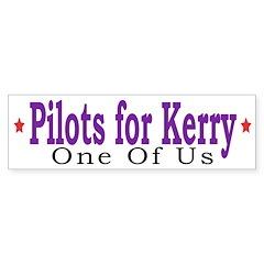 Pilots for Kerry (Bumper Sticker)
