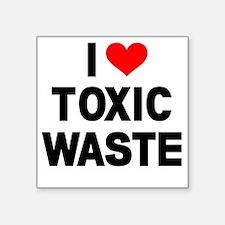 "I-Heart-Toxic-Waste Square Sticker 3"" x 3"""