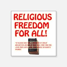 "RELIGIOUSTOL Square Sticker 3"" x 3"""