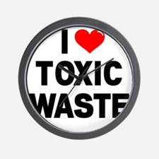 I-Heart-Toxic-Waste-Marked Wall Clock