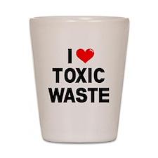 I-Heart-Toxic-Waste-Marked Shot Glass