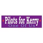 Pilots for Kerry: One of Us (bumper sticker)
