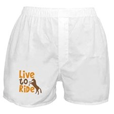 LIVE to RIDE rearing horse design Boxer Shorts