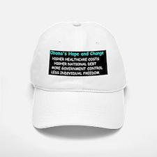 anti obama obama hope and changed Baseball Baseball Cap