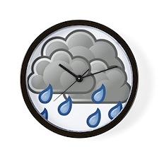 Rain Storm Clouds Wall Clock