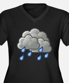 Rain Storm Clouds Plus Size T-Shirt
