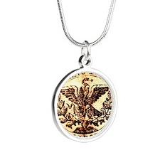 Mexican California Seal Silver Round Necklace