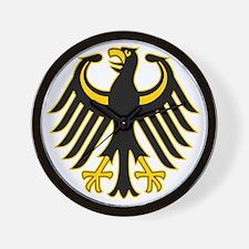 Retro German Eagle Yellow Wall Clock