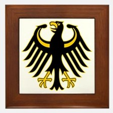 Retro German Eagle Yellow Framed Tile