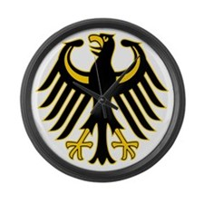 Retro German Eagle Yellow Large Wall Clock