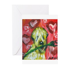 SOFT COATED WHEATEN TERRIER v Greeting Cards (Pack