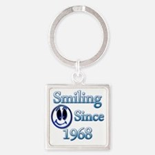 Smiling Since 1968 Square Keychain