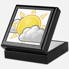 Partly Cloudy Weather Keepsake Box