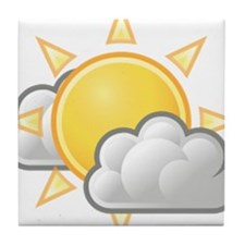 Partly Cloudy Weather Tile Coaster