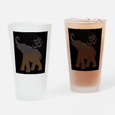 ganesha1-blk Drinking Glass