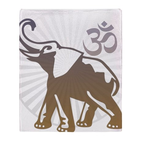 ganesha1-darkbg Throw Blanket