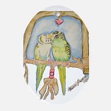 budgielovecopy Oval Ornament