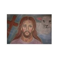 Behold The Lamb of God Rectangle Magnet