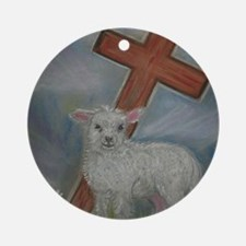 The Lamb of God Round Ornament