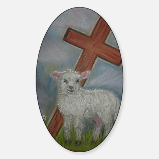 The Lamb of God Sticker (Oval)
