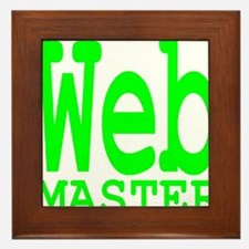 web_master_transparent_neon Framed Tile