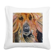 tommy wc Square Canvas Pillow